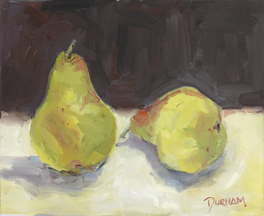 Pears a painting for still life studies